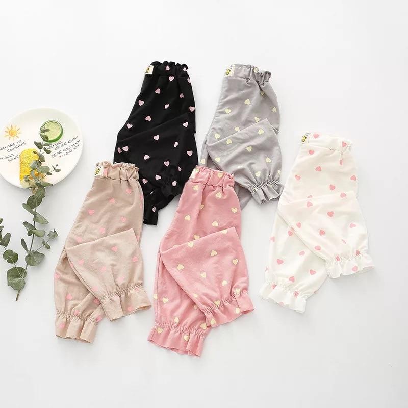 Spring Summer Newborn Pants Heart Print Cotton Baby Girl Leggings Kids Boy Long Trousers Fashion Childrens Pants