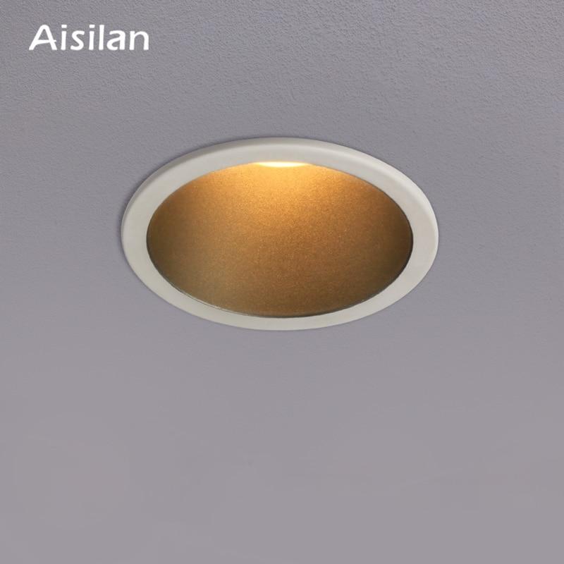 Aisilan Recessed LED Modern Minimalist design Downlight straight Built-in LED Spot light AC90-260V  for Indoor Lighting