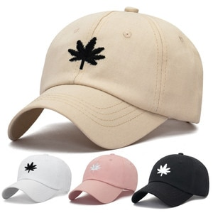 2021 Spring And Summer New Maple Leaf Hat Men'S Korean Sports Baseball Cap Ladies Fashion Cotton Sunshade Cap