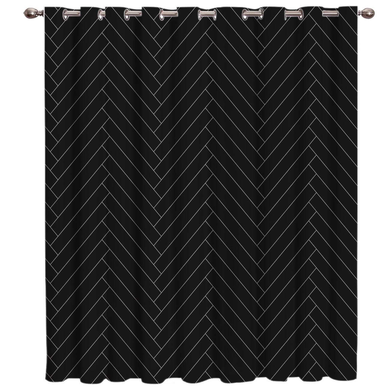 Espiga Natural patrón sobre fondo negro cortinas de habitación gran ventana cortinas paneles ventana oscuro persianas SALA DE negro