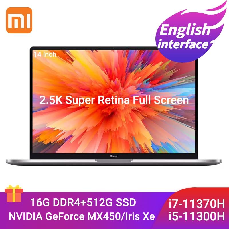 Get Xiaomi Mi RedmiBook Pro Laptop 14Inch Intel Core i7-11370H / i5-11300H 16GB DDR4 512GB SSD Notebook 2.5K FHD Slim Win10 Computer