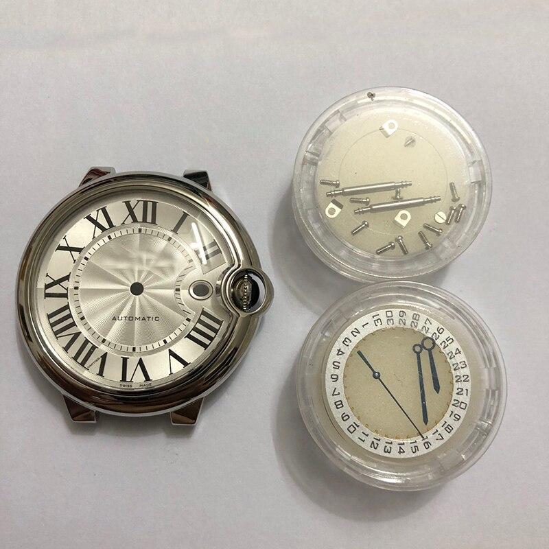 Ballon bleu Watch Case Plus Leather Watch Straps Fit 2824/ 2829 Moverments, Case Diameter 44mm