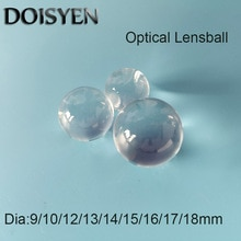 Dia 10-18mm High Precision Fiber Ball lens  K9/BK7 Endoscope Objective Cylindrical Lense co2 laser Focus Lens Ball Optical Glass