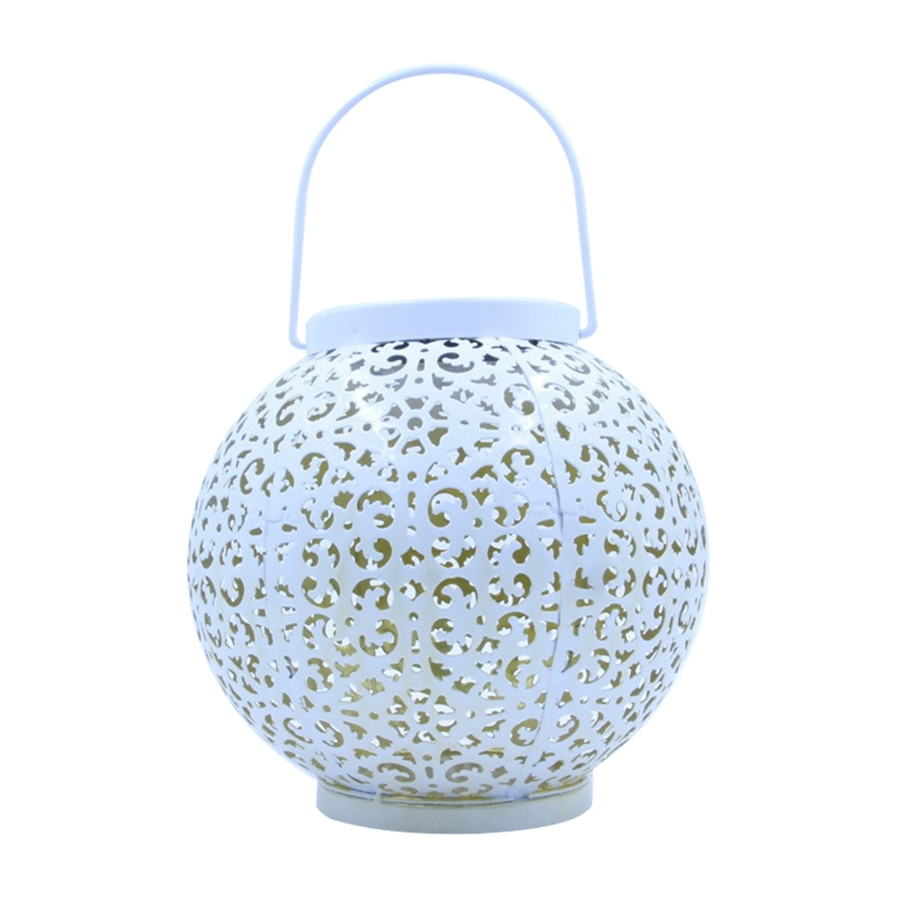 Creativo hueca bola Solar LED linterna de luz textura clásica delicado diseño práctico jardín patio lámpara de iluminación