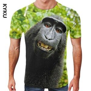 Funny Monkey Orangutan 3D Print T Shirt Summer Gorilla Short Sleeve O-Neck Harajuku Streetwear Animal Graphic T shirts