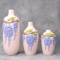 Vase a plantes Flwoer  sculpture de motifs de fleurs  artisanat  decoration de maison  vitrine  ornements de bureau  cadeaux de mariage