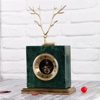 european style copper deer marble clock american retro home decoration study office soft decorations ornaments crafts gift