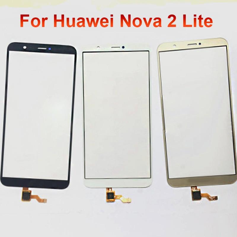 Para Huawei Nova 2 Lite Panel táctil pantalla digitalizador cristal Sensor pantalla táctil Panel táctil con Cable flexible reemplazo Nova2Lite