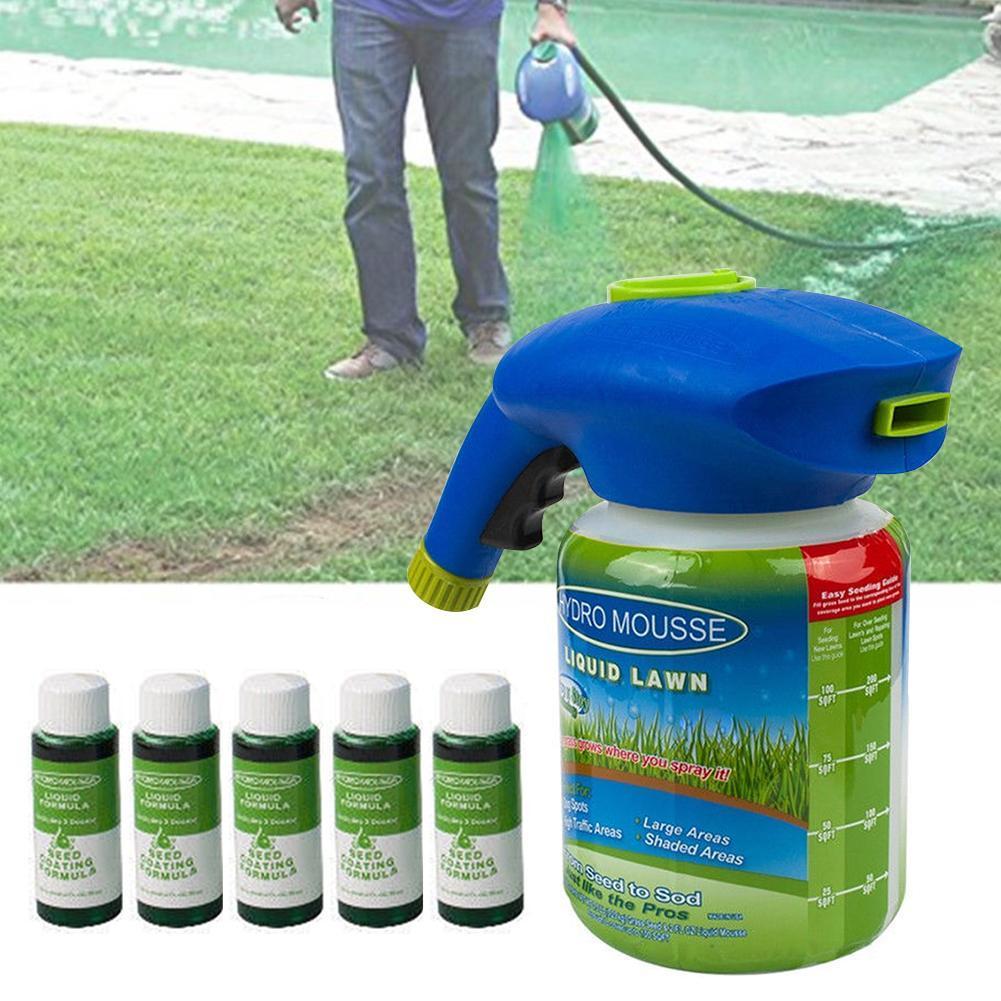 جهاز رش سائل للعشب نظام البذر الزراعي نظام البذر المائي للبذور ورشاش جديد للحدائق