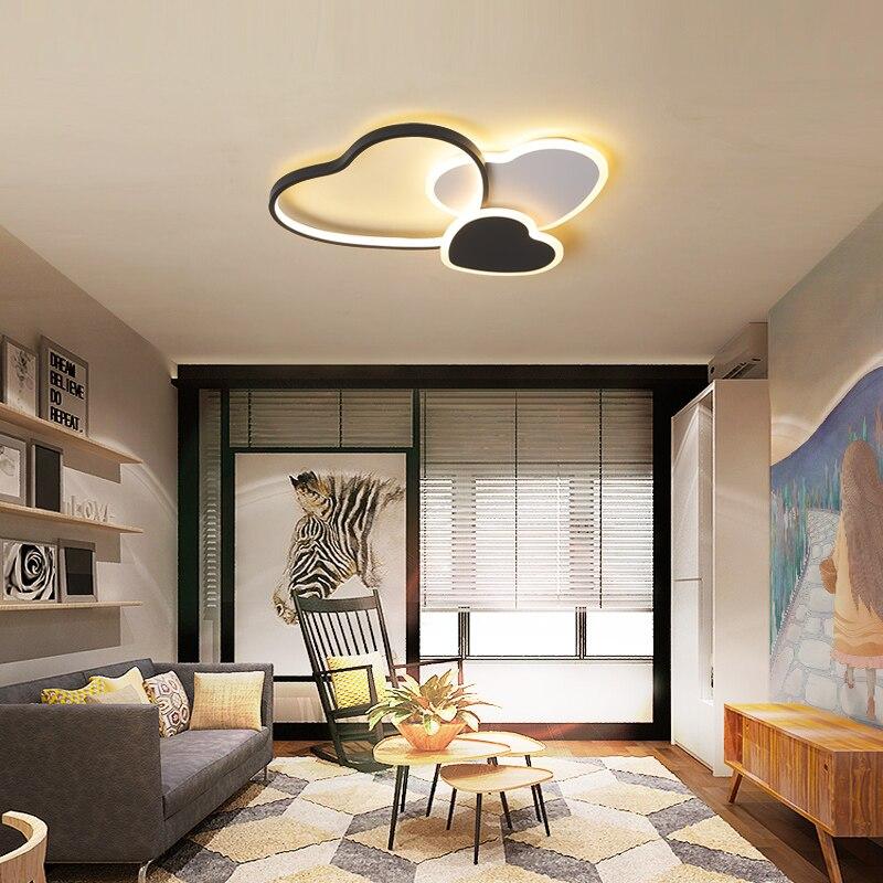 Montado en la superficie de techo Led luces modernas iluminación de aluminio/hierro minimalismo led lámpara de techo para habitación plafon led techo