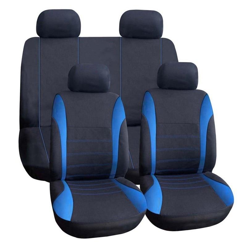 (Frente + trasero) tela cubiertas de asiento de coche para Honda CIVIC 8 9 eg ek 4d 5d 10th 2006-2011, 2012, 2014, 2007, 2008, 2017, 2018 estilo