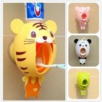 Distributeur de dentifrice a ventouse forte  ensemble daccessoires de salle de bains  porte-brosse a dents automatique porte-brosse a dents pour enfant