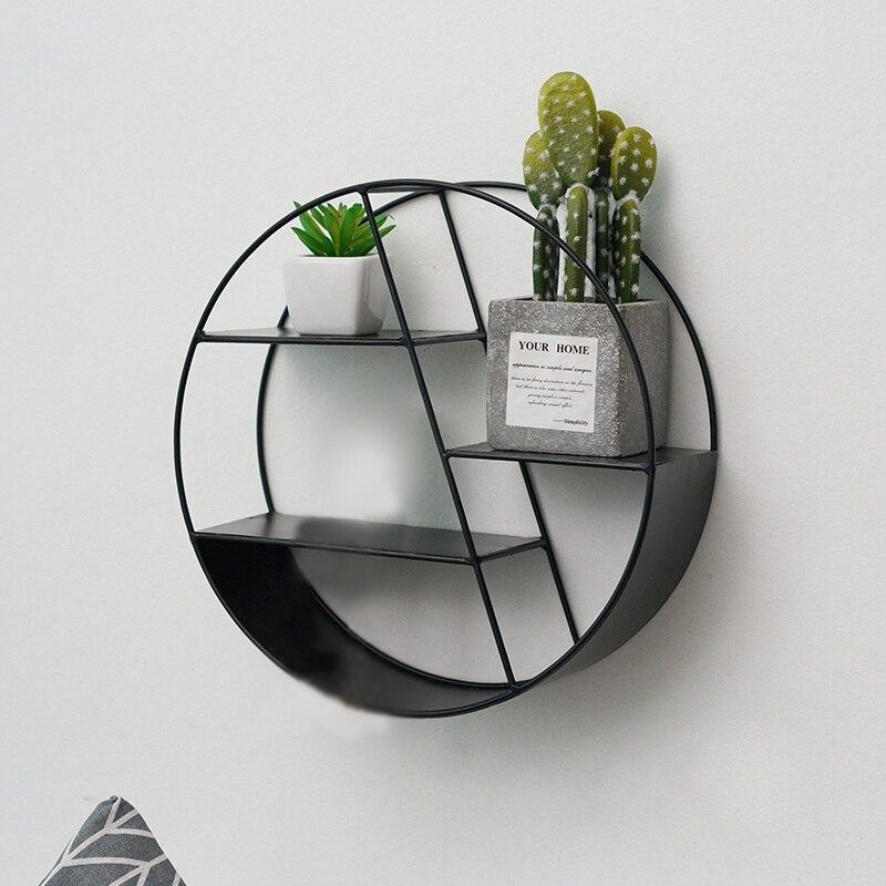 Soportes hexagonales para colgar en la pared, estantería flotante hueca para montar en la pared, elegante estante redondo para sala de estar, dormitorio, decoración del hogar