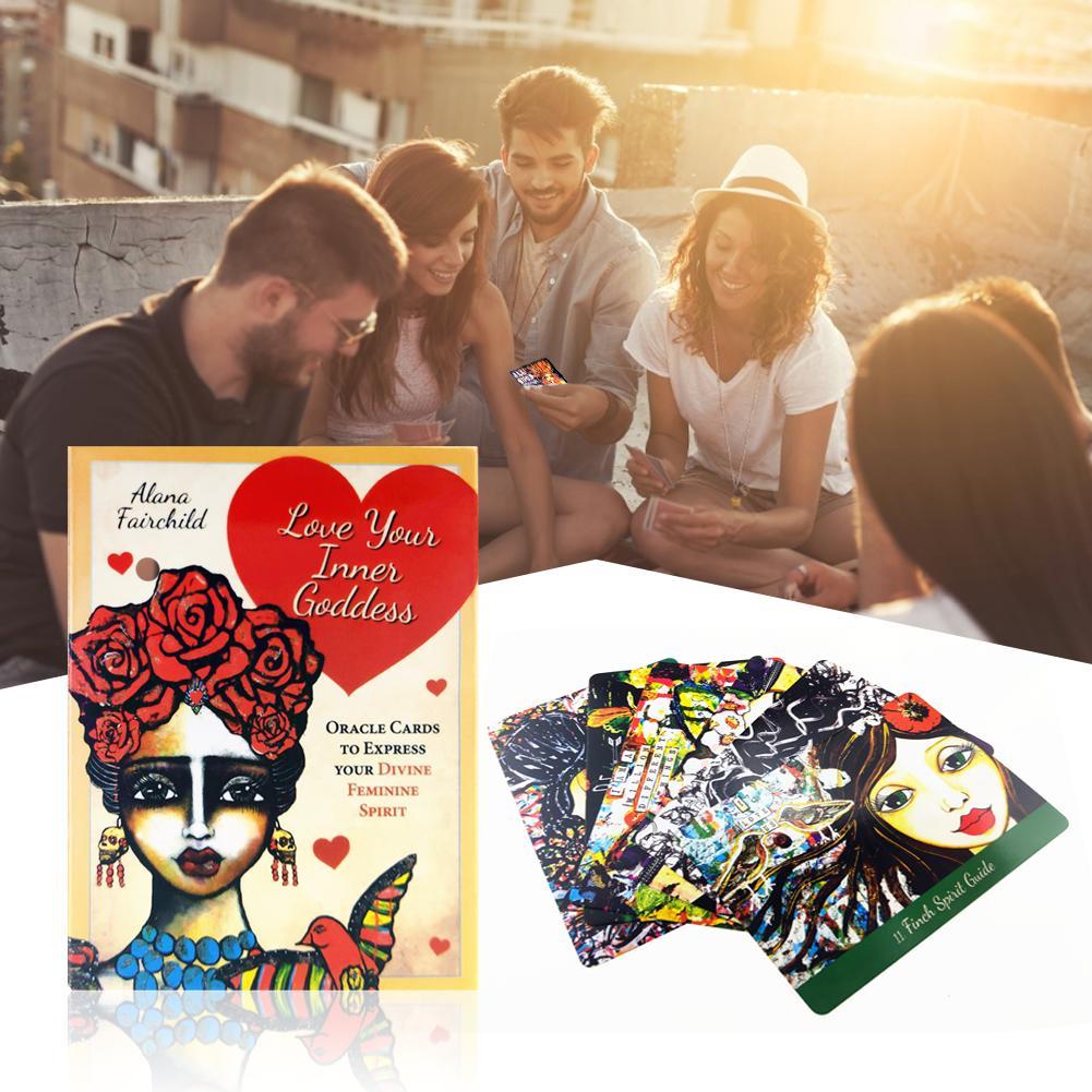 Tarot 44 Uds amor en tu interior Tarot cubierta guía tarjeta Tarjeta de mesa juego mágico destino adivinación tarjeta