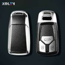 Leather+TPU Car Remote Key Cover Case Shell For Audi A4 B9 A5 A6L A6 S4 S5 S7 8W Q7 4M Q5 TT TTS RS