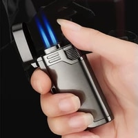 unusual gas lighters jet cigarette butane two torch turbo lighter cigar pipe metal smoking accessories lighters