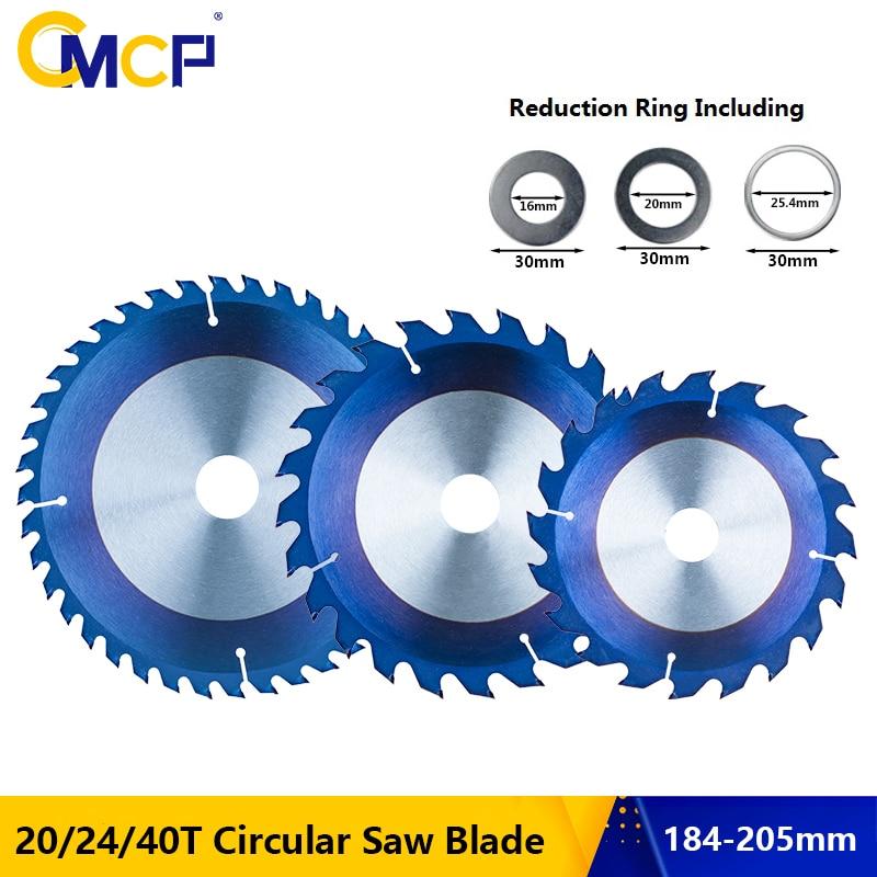 CMCP-نصل منشار دائري مطلي باللون الأزرق ، قرص تقطيع من الكربيد ، 184 مللي متر ، 190 مللي متر ، 205 مللي متر ، TCT ، 20T ، 24T ، 40T ، 48T
