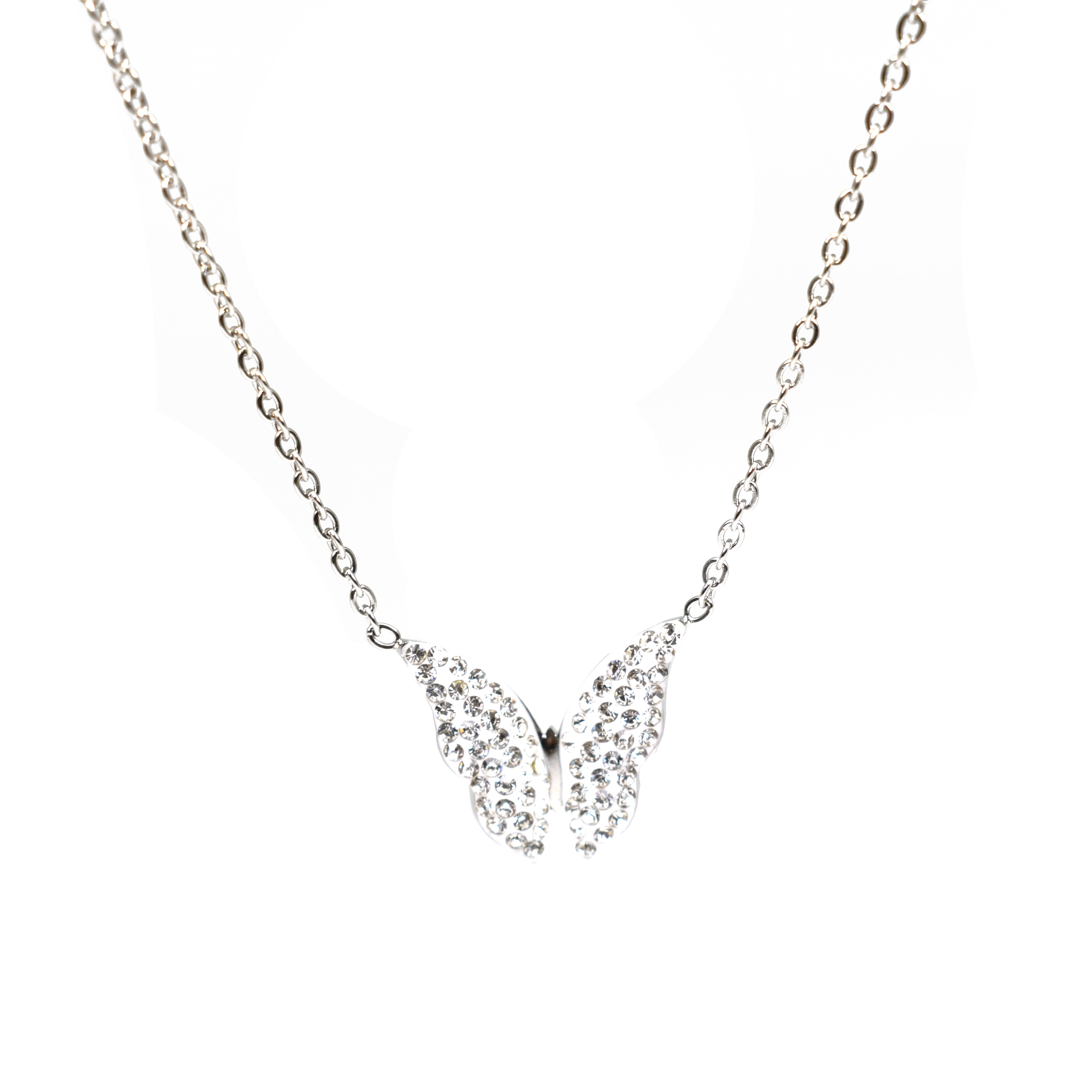 Stainless Steel Chain Butterfly Necklace for Women Gold Wholesale CZ Pendant Choker Necklace Jewelry Bridesmaid Gifts