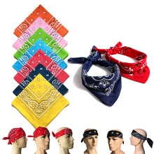 Unisex Bandana Square Face Scarf Sports Headwear Hair Head Band Scarves for Men Women Cycling Hiking