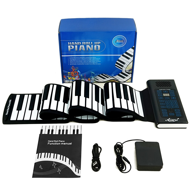 49 61 81 ключи ручной Roll Up MIDI Гибкая электронные пианино силиконовые Портативный складной мягкий палец клавиатура музыкальные инструменты