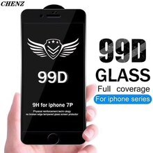 99D Protective film Tempered Glass For iphone 12 Mini 11 pro Max XR X XS Max 8 7 6 6s Plus Accessori