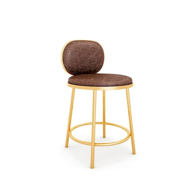 Taburete moderno para Bar, mostrador trasero, tienda de joyería nórdica, escritorio frontal Simple y especial, caja registradora, silla alta