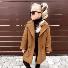 Kinderen Peuter Baby Meisjes Lange Mouw Winter Effen Winddicht Jas Baby Kids Meisje Warme Pocket Mode Uitloper Herfst Jas