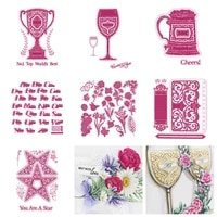 trophy tankard star custom alphabet collection notes flower 2021 arrival new metal cutting dies scrapbook diary template diy