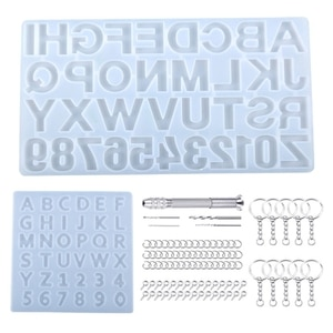 1 Set Crystal Epoxy Resin Mold Alphabet Letters Numbers Pendants Casting Silicone Mould DIY Crafts Jewelry Making Tools