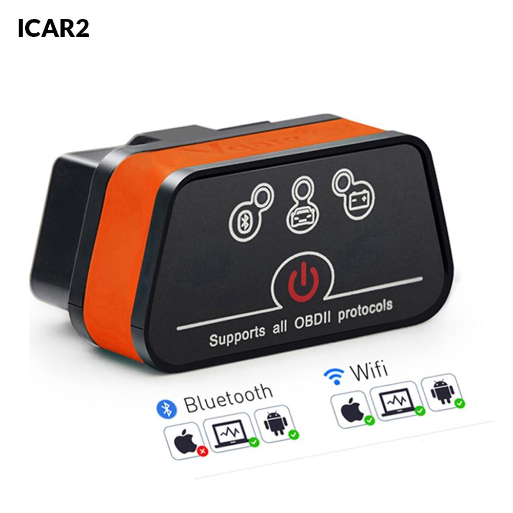 Vgate icar2 Bluetooth/Wifi OBD2 Diagnostic-tool ELM327 OBD 2 Scanner Mini ELM 327 icar 2 for android/PC/IOS OBDII Code Reader