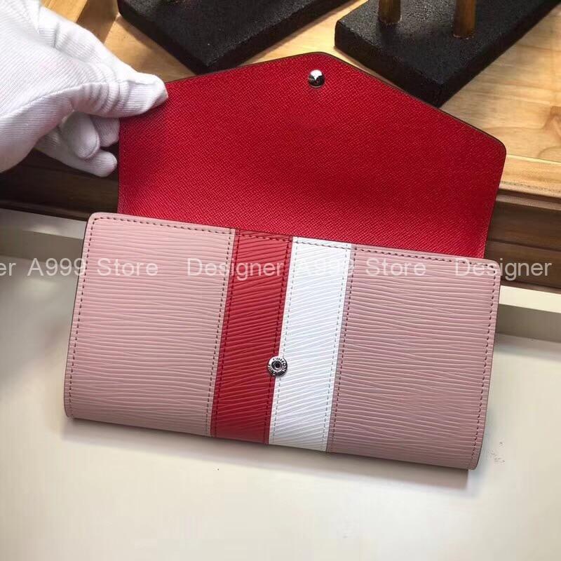 Fashion Luxury Brand Pink Buckle Wallets Women's Purse  High Quality Fashion Credit Card Holder Wall