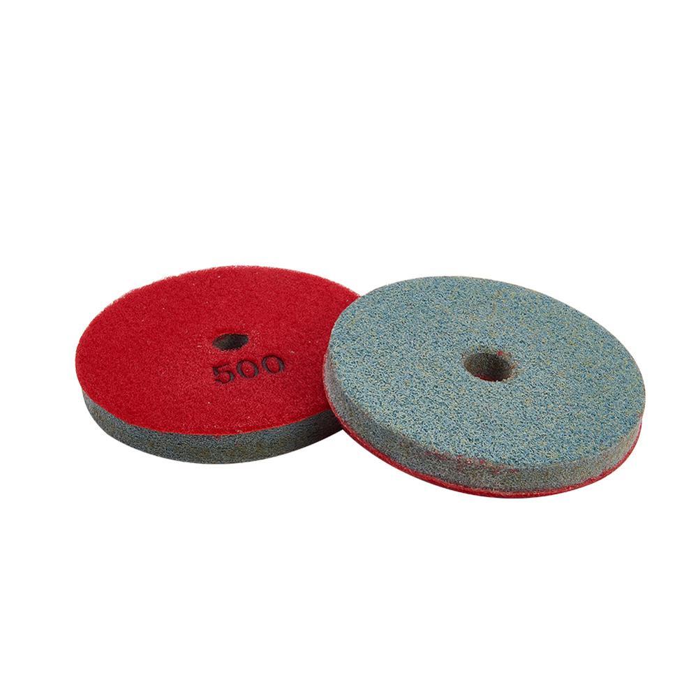 100x16x13mm esponja areia discos 4 Polegada 150/300/500/1000/2000/6000/grão redondo polimento almofada para concreto grantie moagem ferramenta