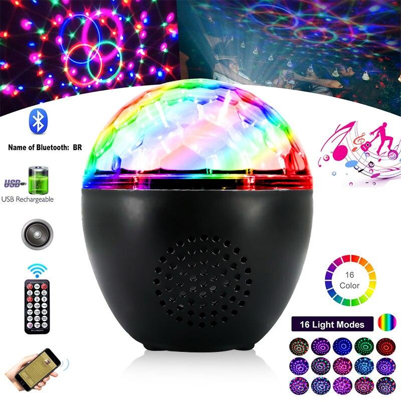 7/15/16 farben Sound Aktiviert Rotierenden Disco Ball Lampe DJ Party Lichter Bühne Licht Mit Fernbedienung Party Lichter 100-240V