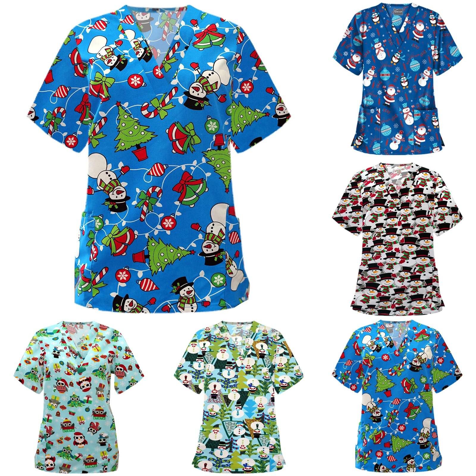 Женский комбинезон для медсестры, женский комбинезон с коротким рукавом, V-образным вырезом, топы, скрабы, Униформа, футболки, ская q5 q5