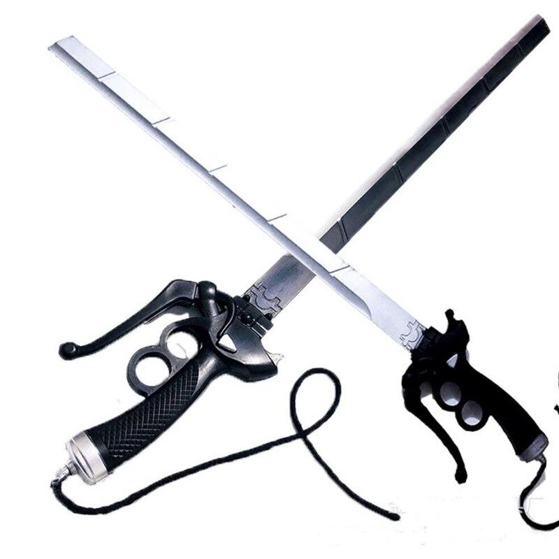 Атака на Титанов Микаса двойной нож Аккерман меч ривамика левимика меч Косплей Хэллоуин реквизит