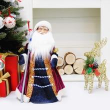 40cm Musical Santa Claus Snow Maiden Dancing Dolls Electric Plush Toys Gift Kid Christmas Xmas Ornam