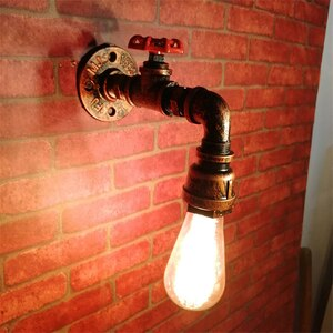 Retro Water Pipe Wall Lights Led Industrial Wall Lamps Home Decor for Balcony Corridor Bedroom Bedside Vintage Sconces Led Lamps