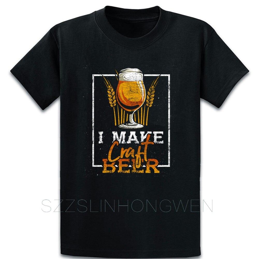 I Make Craft cerveza Camiseta Anti-arruga primavera otoño manga corta sobre el tamaño S-5XL cómic letras Designs camisa Vintage