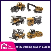 164 diecast alloy engineering vehicle excavator model car collections classic educational assemble toys