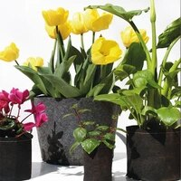 planting belt black spring practical nonwoven creative balcony plant bag plant grow bag vegetable storage container