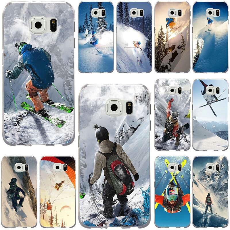 La nieve o morir de esquí Snowboard deporte suave TPU para Samsung Galaxy nota 2 3 5 8 9 S2 S3 s5 Mini S6 S7 S8 S9 S10 Edge Plus Lite