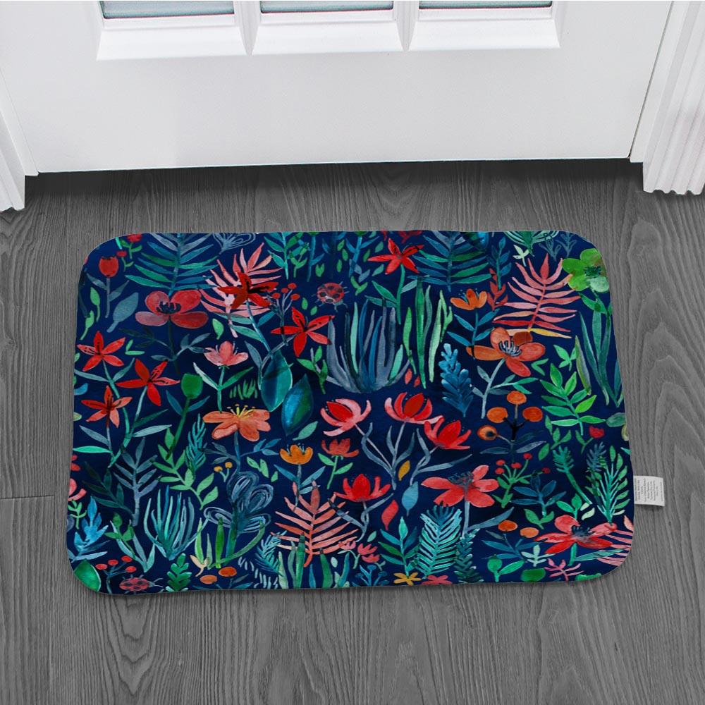 Alfombrillas para el suelo, plantas, flores, alfombras de cocina, alfombrillas antideslizantes para puerta de baño, pisos de pasillo, mesita de noche absorbente matsLZE22