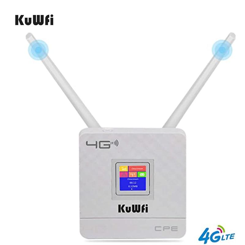 4G سيم بطاقة موزع إنترنت واي فاي لاسلكي CPE راوتر CAT4 150Mbps 4G LTE FDD/TDD إفتح راوتر مع هوائيات خارجية WAN/LAN RJ45