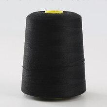 5000yards/roll 40s/3 fil à coudre blanc noir ensemble de fils de Polyester fils à coudre forts et durables pour Machines à main