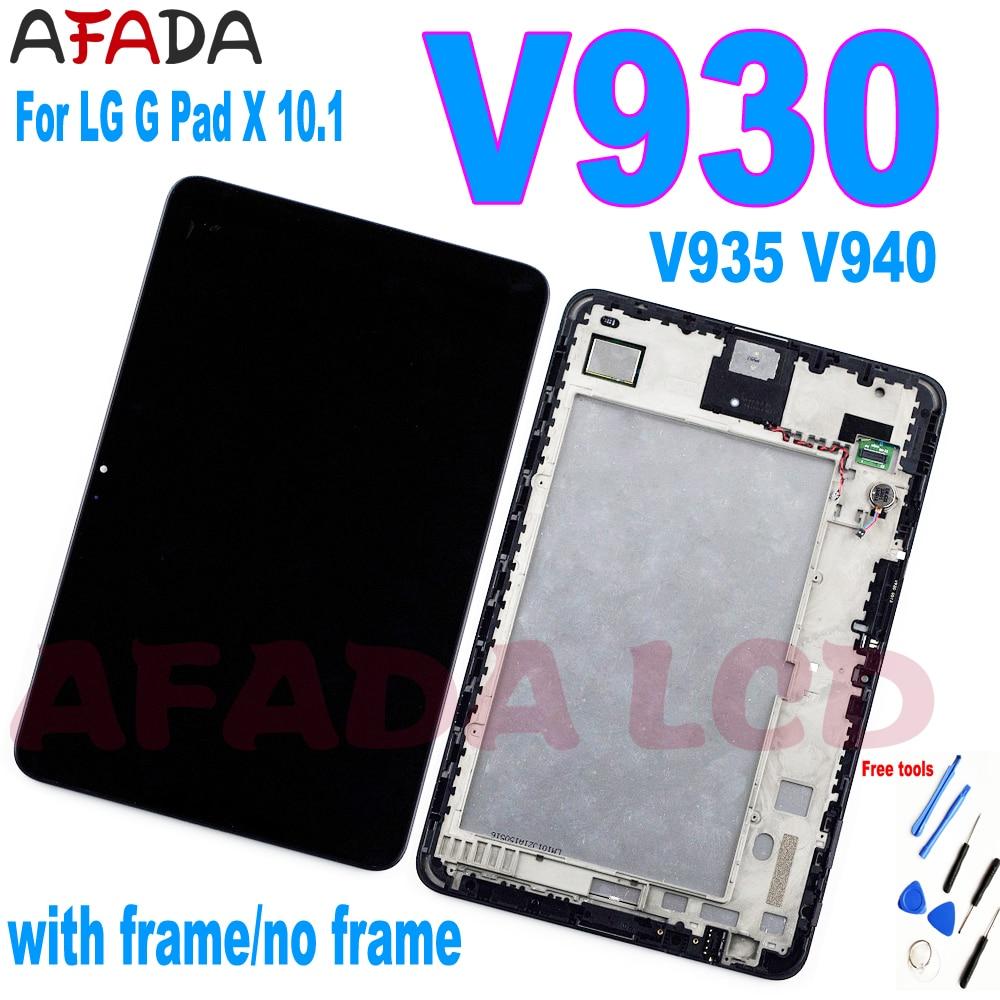 ЖК-дисплей 10,1 дюйма для LG G Pad V930 V935 V940, ЖК-дисплей с рамкой для LG G Pad V930, сменный ЖК-дисплей