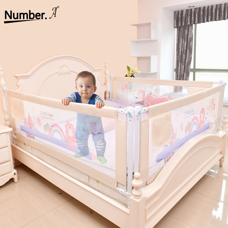 4 size blue pink color120 150 180 200cm baby bed fence guardrail baby crib guardrail bed rails bed buffer type meters general Baby Bed Fence Home Kids playpen Safety Gate Products child Care Barrier for beds Crib Rails Security Fencing Children Guardrail