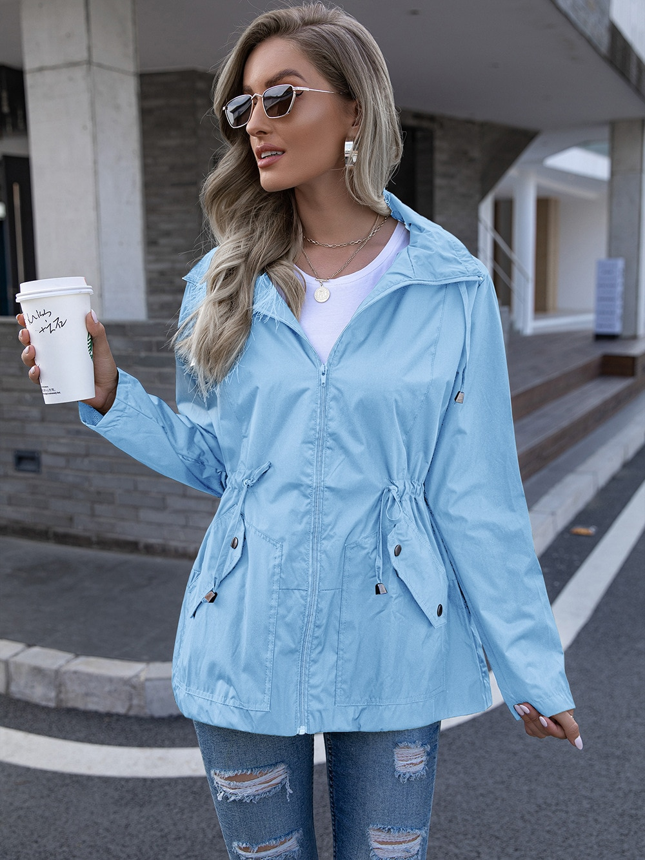 Женская куртка с капюшоном, однотонная непромокаемая уличная куртка для альпинизма, топ для отдыха, весна-осень 2021