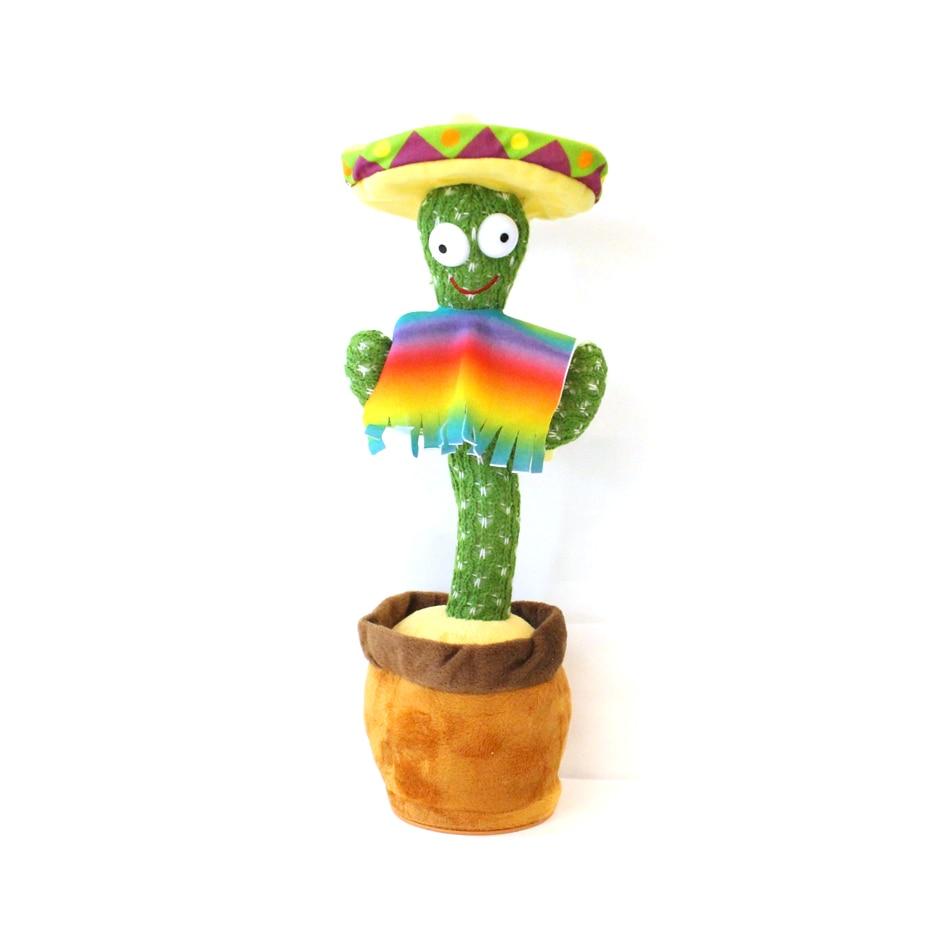 Женский, Электрический танцующий кактус, кактус Джек, говорящая игрушка-кактус, украшение для дома и офиса, плюшевая игрушка-кактус