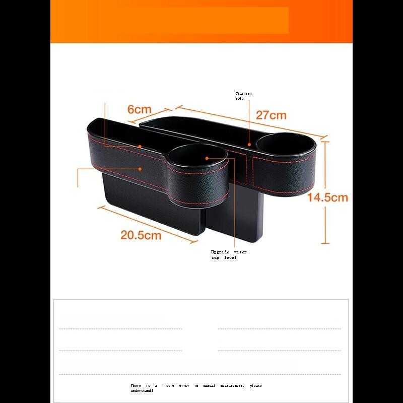 Decorativas Auto Gadget Organizador Hidden Organizer Car Accessories Accesorios Coche Interior Universal Seat Gap Storage Box enlarge