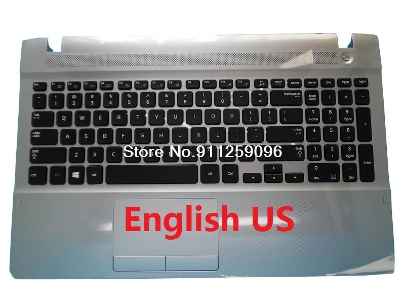 PalmRest ولوحة المفاتيح لسامسونج NP270E5G 270E5G الإنجليزية الولايات المتحدة روسيا RU فرنسا FR البرازيل BR المملكة المتحدة المملكة المتحدة إيطاليا لوحة ا...